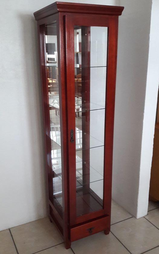 Cristaleira 1 Porta Cor Mogno Constrular M Veis Para